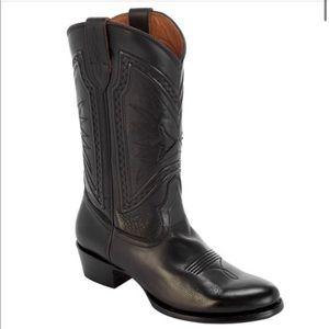 Frye Rosaline Braid Tall Leather Western Boots